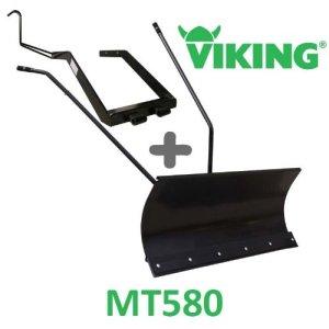 Lame à Neige 118 cm Noire + adaptateur pour Viking MT580