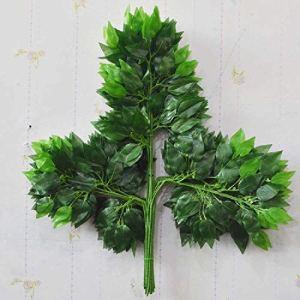 meixiang Simulation des Feuilles D'Eucalyptus en Plastique, De Fausses Feuilles De Branche Végétales, De La Décoration à La Maison des Plantes Vertes Vert 4