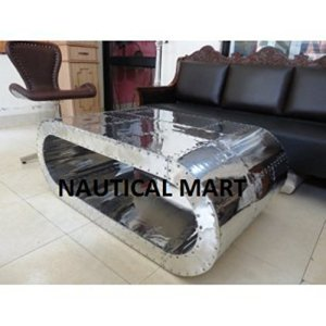 NauticalMart Table basse en aluminium Black Hawk