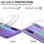 Oihxse Coque pour Oppo Reno 3 Pro, Etui en Transparente Silicone TPU 3D Protection Bumper Ultra Mince Cristal Housse avec Motif Fille D'Ete Mer Anti Choc Cover (A3)