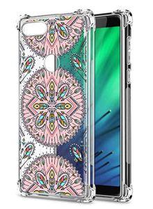 Oihxse Transparent Coque pour Xiaomi Mi 9/9X Souple TPU Silicone Protection Etui Air Cushion [Shock-Absorption] [Anti-Rayures] Fleurs Motif Housse Bumper (B1)