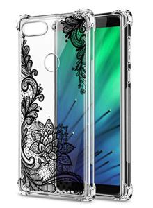 Oihxse Transparent Coque pour Xiaomi Mi CC9 Pro/Redmi Note 10/10Pro Souple TPU Silicone Protection Etui Air Cushion [Shock-Absorption] [Anti-Rayures] Fleurs Motif Housse Bumper (B4)