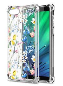 Oihxse Transparent Coque pour Xiaomi Redmi K30/K30 Pro Souple TPU Silicone Protection Etui Air Cushion [Shock-Absorption] [Anti-Rayures] Fleurs Motif Housse Bumper (B11)