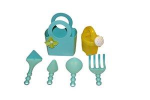 Outils de jardin pour enfant en plastique Set 6pièces bleu