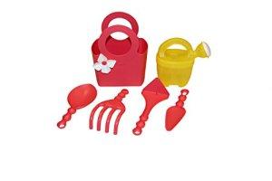 Outils de jardin pour enfant en plastique Set 6pièces Rouge