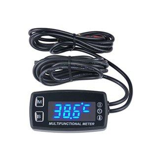 Runleader RL-HM035LT Compte-tours / compteur horaire / thermomètre LED pour moteur à essence (hors-bord, paramoteur, tondeuse, motoculteur)