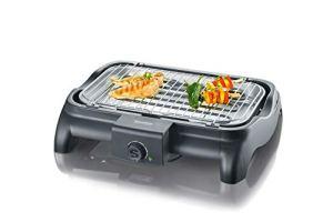 Severin – 1511 – Barbecue de table – 2300 W – 851 cm2 – noir – grille chromée – thermostat