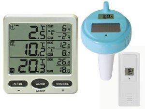 Thermomètre piscine sans fil FT0075piscine avec 2capteurs Radio Thermomètre de bassin piscine