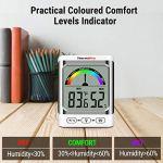 ThermoPro TP52 Jauges de Température et Humidité Numérique Thermomètre Chambre Bébé Hygromètre Intérieur Maison Affichage, Mémoire de Max/Mini, Écran LCD
