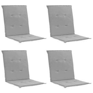 Tidyard Coussins de Chaise de Jardin 4 pcs/Coussin de Siège de Jardin 100 x 50 x 3 cm en 100% Polyester Gris