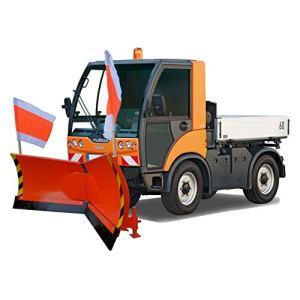 Vario Pelle à neige avec fixation hydraulique multicar, orange