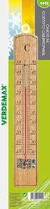 Verdemax 4442220x 35mm en bois de hêtre Thermomètre classique