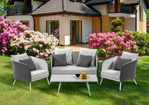 XONE Set de Jardin Gardner en Aluminium et textilène