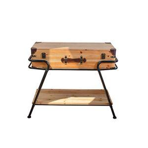YAzNdom Table Basse Une Table Basse Rectangulaire Offre Un Espace De Rangement Et Une Surface De Bureau Évolutive Convient aux Chambres de la Salle à Manger (Couleur : Natural, Taille : 64×43.5x73cm)
