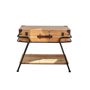Yinglihua Table Basse Ronde Une Table Basse Rectangulaire Offre Un Espace De Rangement Et Une Surface De Bureau Évolutive (Couleur : Natural, Taille : 79x36x64cm)