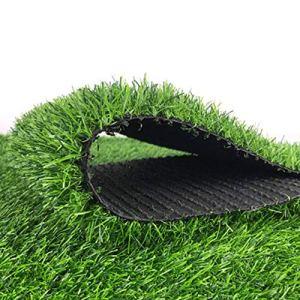YNGJUEN Tapis de Gazon Artificiel en Plein air Faux Tapis de Gazon Vert Haute densité pelouse de Jardin pelouse synthétique Tapis de Chien de Compagnie 25 mm Hauteur de Pile (Size : 2x7m)
