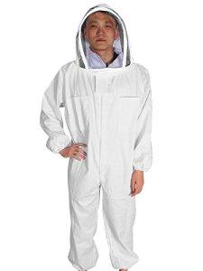 Yodensity Combinaison De Protection Professionnel d'Apiculture Ensemble Complet De Costume + Chapeau avec Voile Anti Abeille pour Apiculteurs Beekeeping Suit