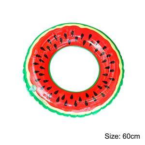 Anneau de natation pastèque Summer Pool Beach Anneau de natation gonflable pour adultes et enfants (diamètre 60 cm)