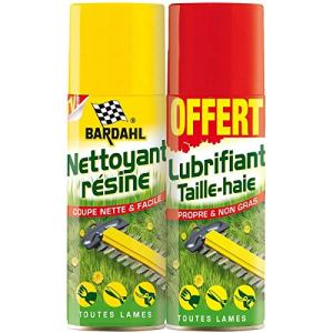 Bardahl LOT Anti-RESINE + LUBRIFIANT Taille-Haies 2 X 200ML