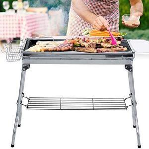 Cosiki Grills Portable BBQ en Acier Inoxydable Pliant Barbecue Grill Barbecue Poêle Barbecue Charbon De Bois Grill