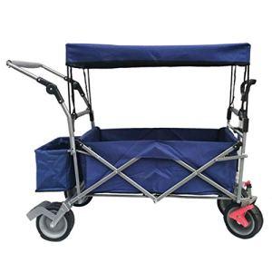 CYK Wagon Pliant – Chariot à Main Pliable pour l'extérieur, Chariot Multifonction portatif, Conception de Poche au Plafond et latérale Convient pour Les Pique-niques en Camping