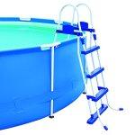 Echelle sécurité 2 x 3 marches pour piscine Hauteur 107 cm