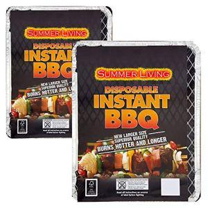 Générique 2 x Barbecues jetables instantanés. Idéal pour Les Petites fêtes ou pour Un Barbecue Rapide.