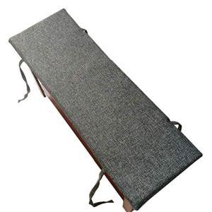 Homay Coussin pour banc de jardin, chaise longue durable pour salle à manger, camping, 2 places, housse amovible, antidérapante, épaisseur 2 cm 120x30x2cm gris foncé