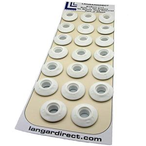 Langard 12 mm Blanc Snap 'n' robinet Oeillets Lot de 20 pcs