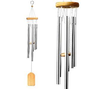 nuosen Carillon, Tubes en Alliage Musical Wind Chimes Cloches Artisanat en Bois Pendule Loop Relaxant tonalités pour Jardin et décoration de Maison Cadeau
