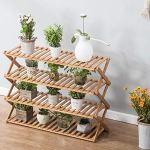 Support de Fleur – Pli en Bois Massif Support de Plante Balcon intérieur Étagère de Plancher Multicouche Durable en Trois Dimensions (Taille: XXL)