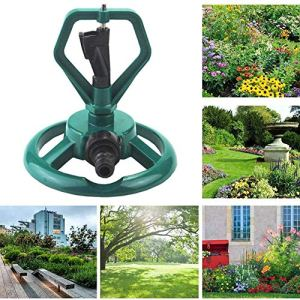 SUSHOP Extérieur Jardin Sprinkler 360 degrés de Rotation Lawn Sprinkler Système d'irrigation avec ABS en Plastique Conçu pour Garden Park Lawn Irrigation agricole (2 PCS)