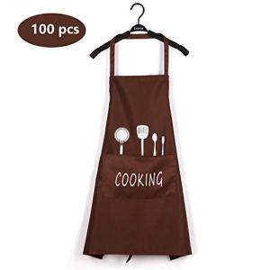Tablier de cuisine, Tabliers de cuisine, barbecue qualité professionnelle, for la famille for la cuisine, restaurant, jardin, barbecue, café, tablier for le chef, Baker, Serveuse, Rouge (Color : E)