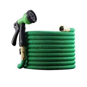 VBARV Tuyau de Jardinage Flexible, kit de Tuyau d'eau Extensible, buse de pulvérisation à 8 Motifs, Noyau en Latex Durable à 4 Couches, pour Les Plantes d'arrosage de Voiture de Jardin