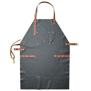 WQYH Tablier de Mode en Cuir Art Grill/Chef/Barbecue/Tatouage/Tablier de Peinture Gris