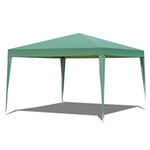 WSN Pop Up Tente Gazebo, Extérieur Pliant Canopy imperméable avec Sac de Transport, Jardin arrière Patio Chapiteau Abri pour Auvent de soirée de Mariage 3x3m