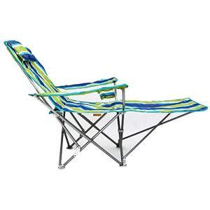WYQ Fauteuil inclinable, Pliant inclinable, Portable inclinable, Idéal pour Les sièges Confortables en Plein air pour l'extérieur Patio Jardin de Pique-Nique Camping Plage détente en Plein air,Vert