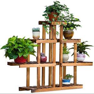 XHCP Support à Fleurs – Balcon intérieur Multicouche en Bois Support Polyvalent Tridimensionnel Durable