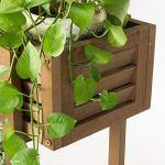 XHCP Support à Fleurs – Treillis en Bois Balcon intérieur Rack Polyvalent Tridimensionnel Durable (Taille: L)