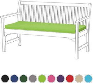 Xicaimen Coussin de Banc de Jardin 3 Places extérieur/intérieur résistant à l'eau et Ignifuge Coussin Patio Furniture PadLime