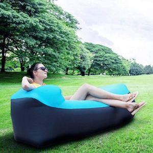 Yuanyuanliu Sacs Gonflables Canapé Lit Portable Air Gonflable Hamac Simple sans Camping en Plein Air Matelas d'air De Camping (Color : Blue)