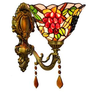 ZGQA-Lampes de bureau British Grape Creative Salle de bain Miroir Phares simple Pastoral cristal de chevet Applique Aisle Balcon Applique Décoration Applique