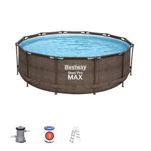 Bestway Lot de piscines Rondes en Acier Pro Max Série Deluxe 3,66 m x 1 m