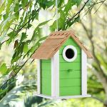 Birdhouse Resting Cage Box Supplies, Wooden Bird Perroots House Nids for Birds Feeders Perrots Bird Nids Hanging Outdoor Garden Balcony Decoration Ornaments