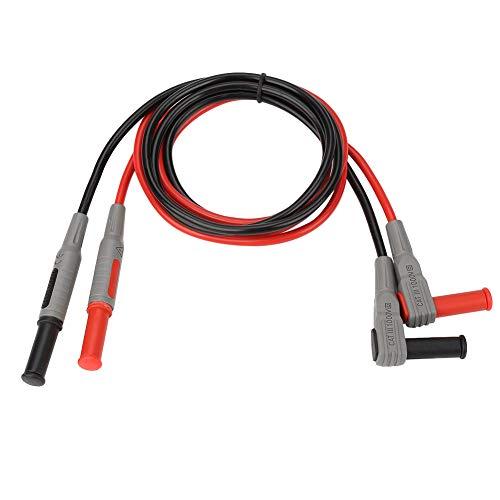 Câble de test banane, P1033 Ligne de test de fiche banane 4 mm Moulé par injection à angle droit à multimètre droit Câble électrique Connecteurs Câble banane