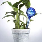 Feelino Lot de 2 boules d'irrigation en verre de 9 cm Happy Globe pour l'irrigation automatique 14 jours, boules de soif