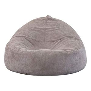 Grand sac d'haricot de mousse de mémoire de sofa paresseux de sofa – grand sofa avec la couverture douce de fibre micro – Meubles de loisirs Canapés (Couleur : Gris, Taille : 110 * 90 * 37cm)
