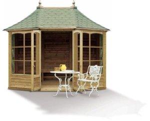 Harrogate octogonale en bois jardin Pavilion (Grand)
