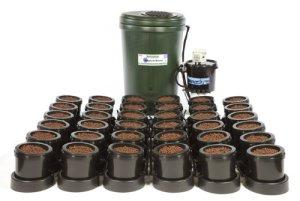 Iws Pot de 36Flood et système d'écoulement en pleine Croissance–Plastique Réservoir