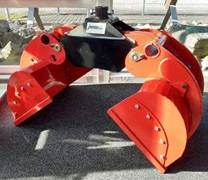 Joma-Tech OG16 Outil de forestier avec ou sans moteur rotateur et plateaux, OG16 mit Finn-Rotator und Einlegeschalen, rouge/noir, 50